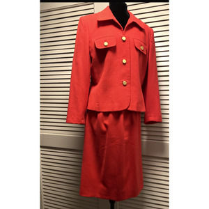 ALBERT NIPON  Vintage Wool Skirt Suit  Size 12